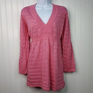 Banana Republic Pink Babydoll V-Neck Sweater XL
